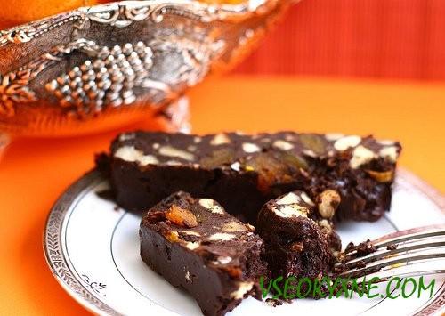 Шоколадный торт печенья рецепт фото