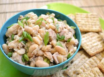 рецепты салатов с белой фасолью