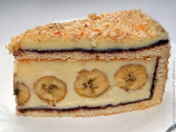 рецепт пирога с бананами с фото