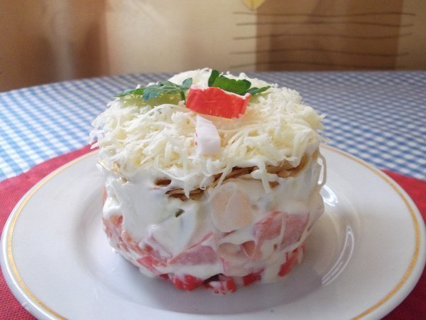 Порционные салаты рецепты простые и вкусные пошагово