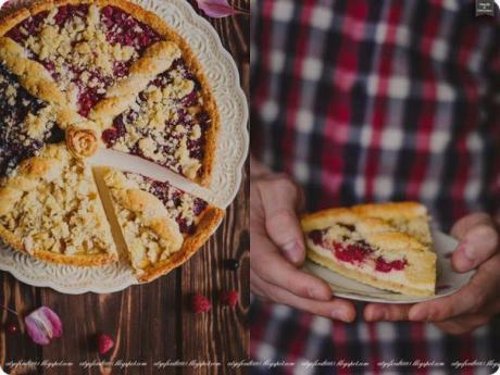 Четырёхцветный ягодный пирог