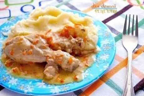 Курочка в молочно-сметанном соусе. Вкусный рецепт!