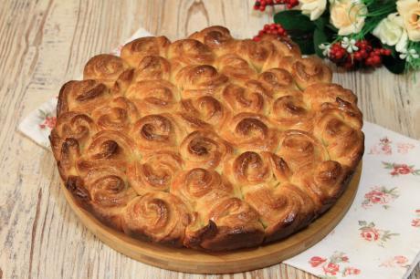 """Очень вкусный творожный """"Булочный"""" пирог: как говорят, просто тает во рту"""