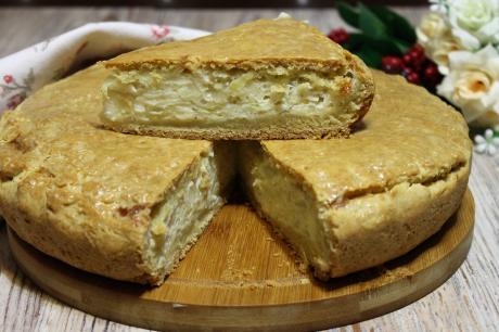"""Знаменитый """"Луковый"""" пирог: ведь и вправду не скажешь, что в начинке практически только лук"""