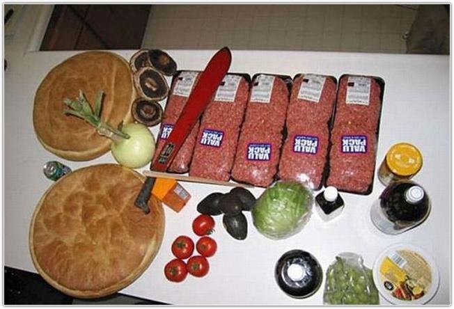 Как приготовить огромный бургер (фотоинструкция)