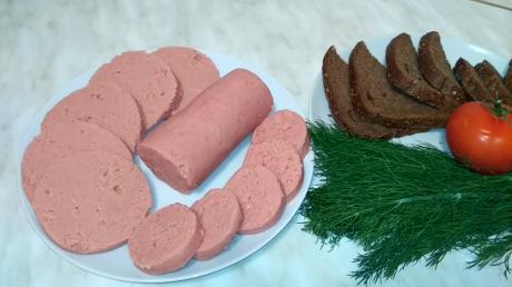 Постная гороховая колбаса