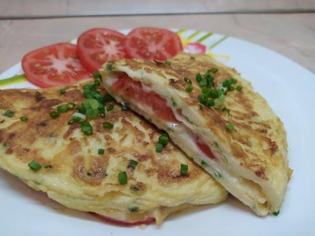 Завтрак из трёх яиц. Готовится быстро, получается сочно и очень вкусно
