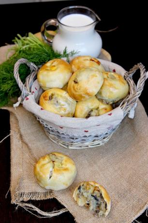 Кныши с картошкой и грибами. Хрустящие пирожки