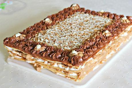 """Торт-десерт """"Леди""""и реакция дигустирования. Новый рецепт для праздничного стола"""