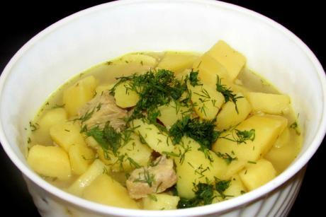 Рецепт супозаменитель - картошка с мясом в бульоне